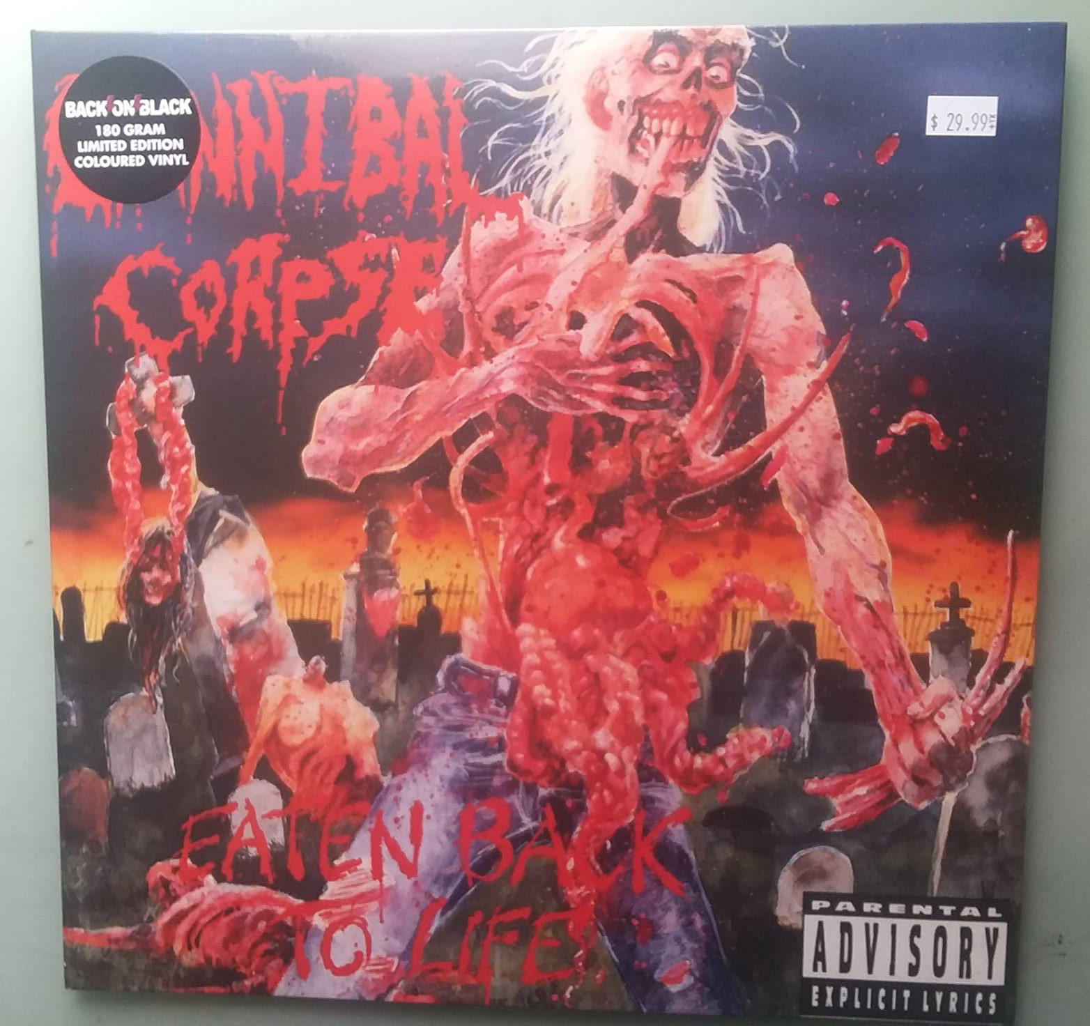 Cannibal Corpse - Eaten Back to Life LP (2010, Back on Black, Colored Vinyl)